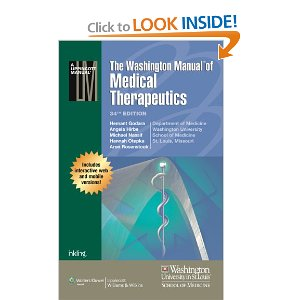 The Washington Manual of Medical Therapeutics 34th 2013